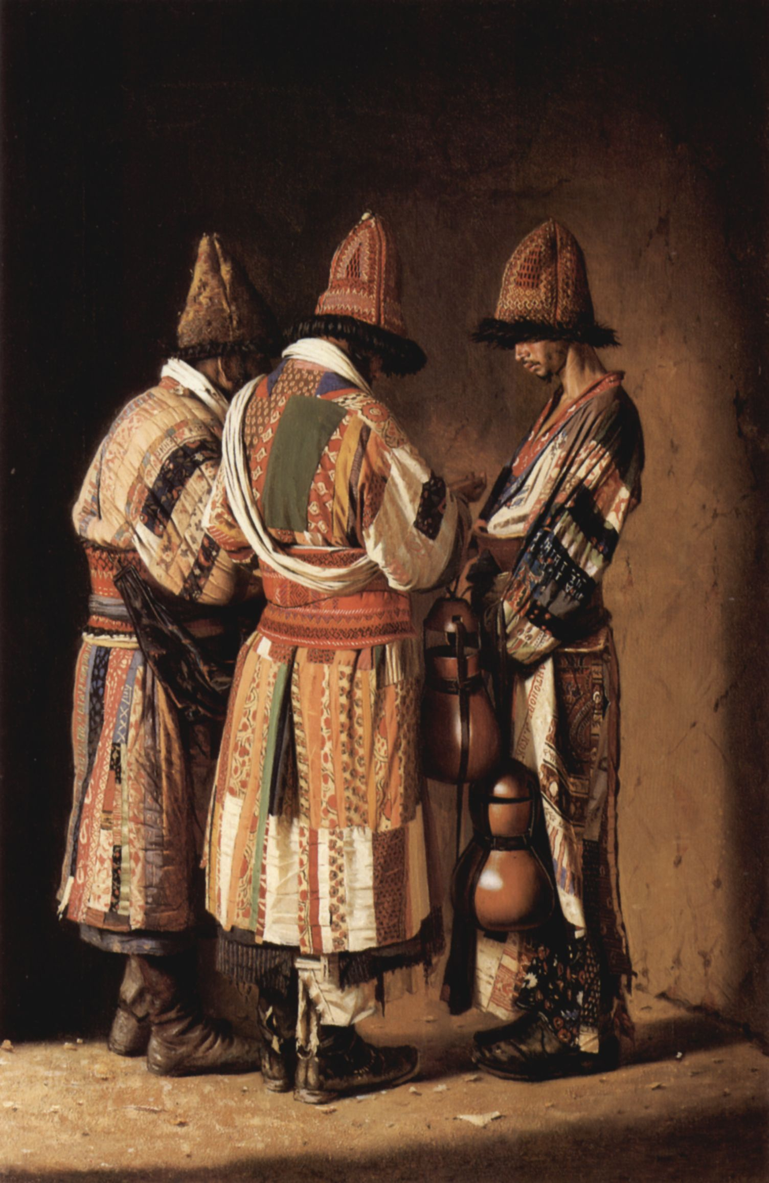 Dervishes wearing festive clothing