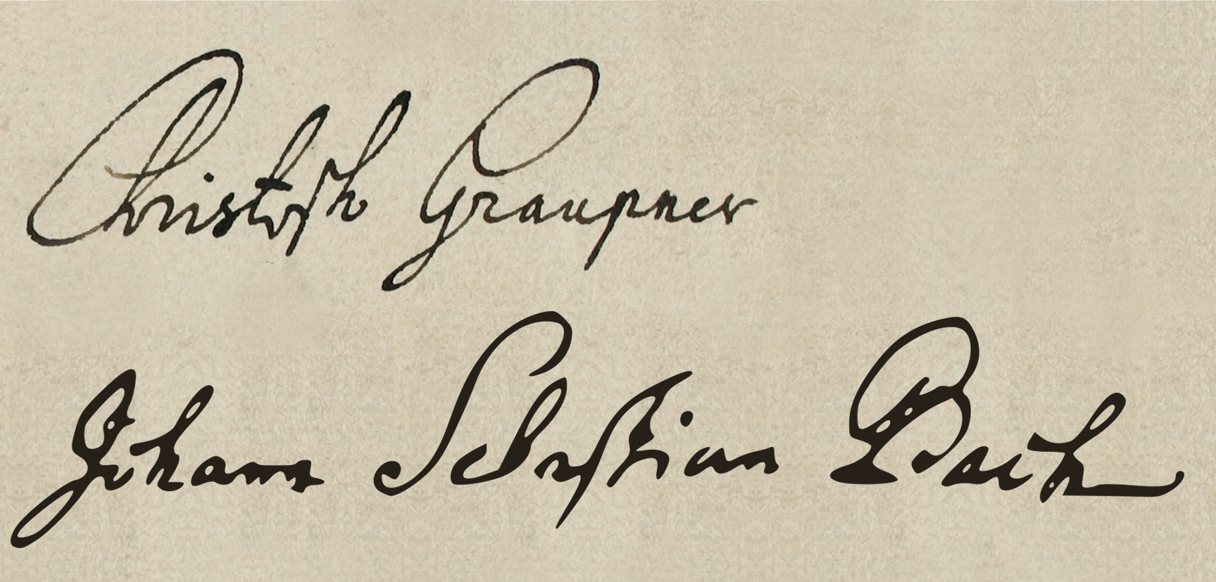 Comparison of signatures: was Graupner's a touch more elegant?