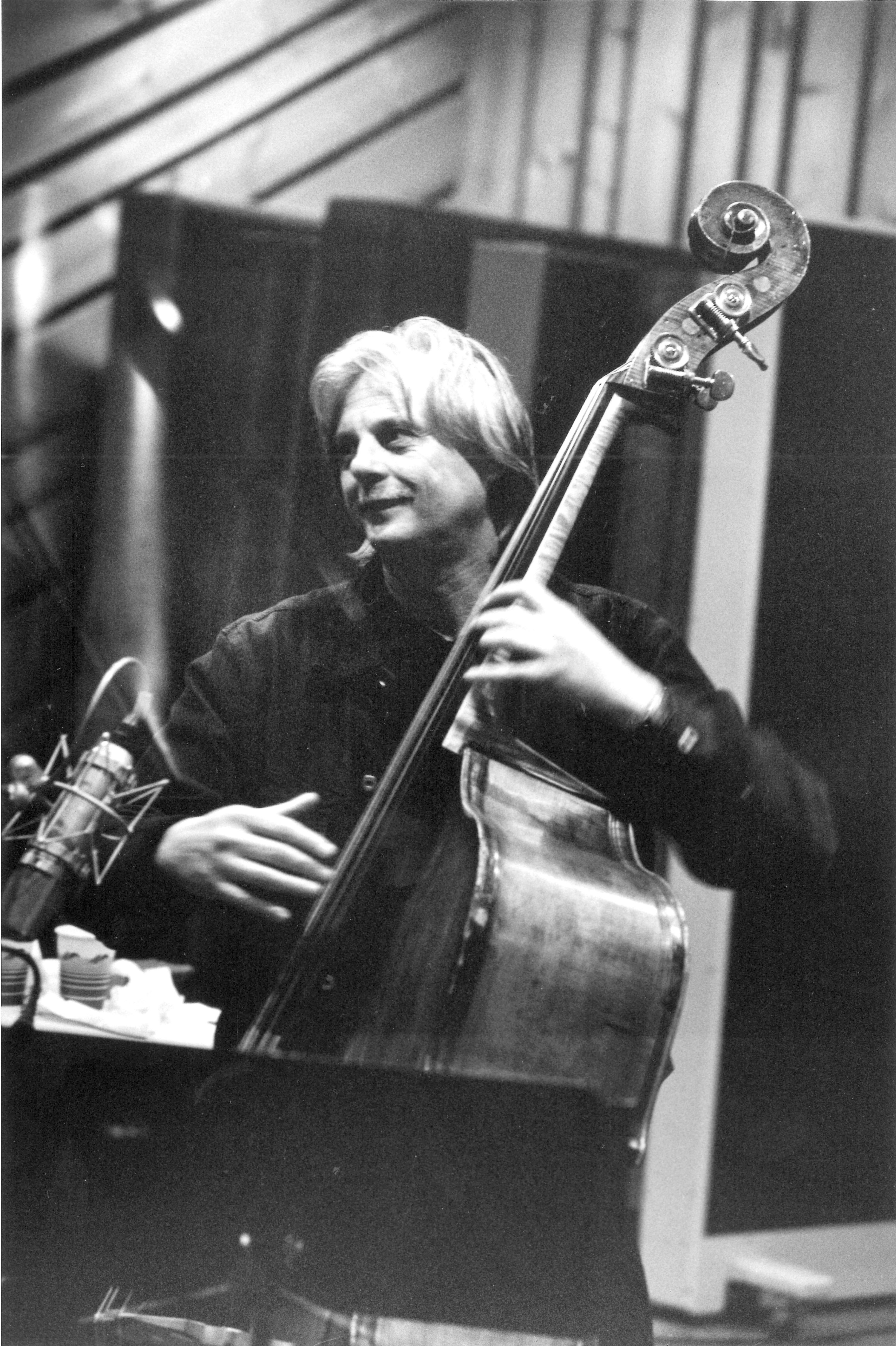 Manfred Eicher on the double bass
