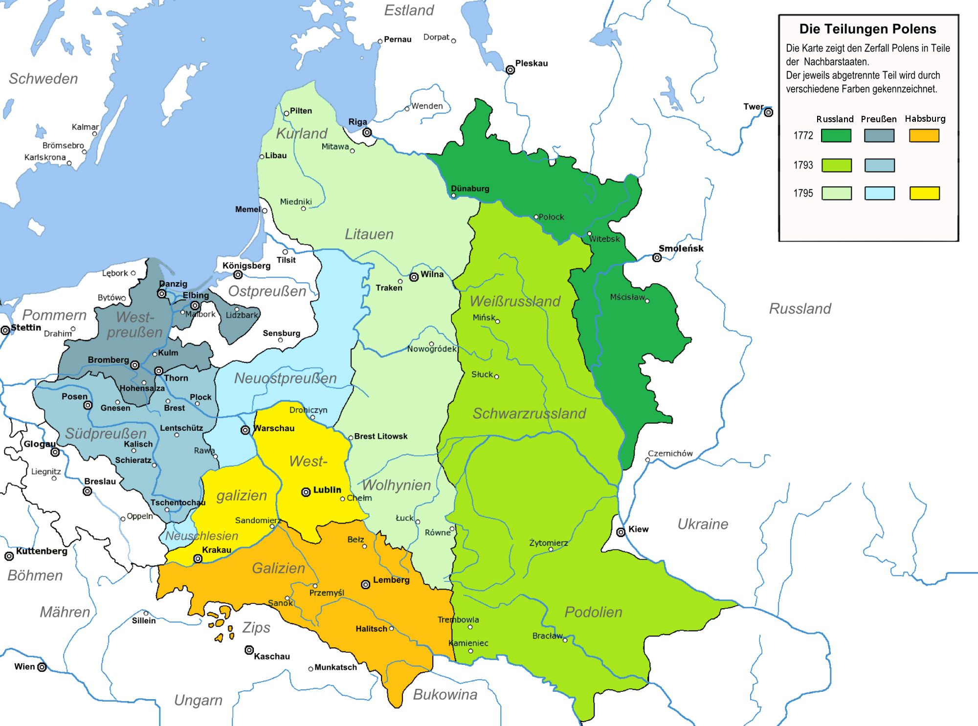 The Three Partitions of Poland