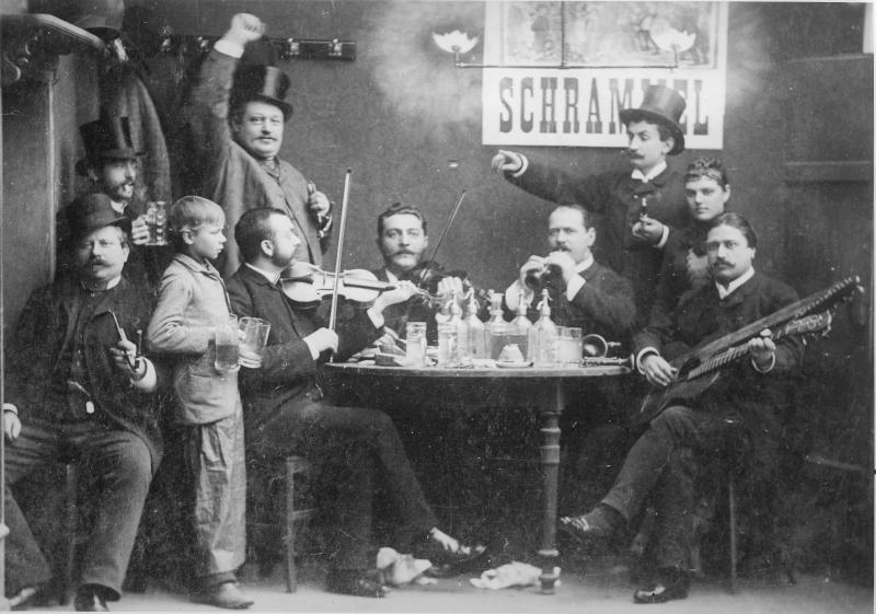 The Johann and Josef brothers' »Schrammel Quartet« (around 1879)