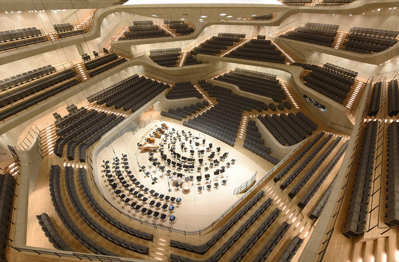 Sitzplätze elbphilharmonie