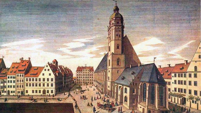 St Thomas's Church, Leipzig in 1735
