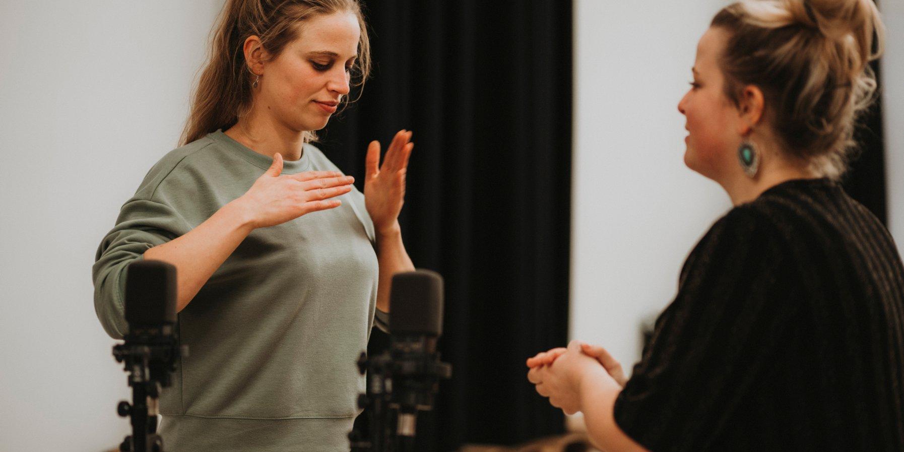 Body-Percussion mit Vanessa und Jessica Porter