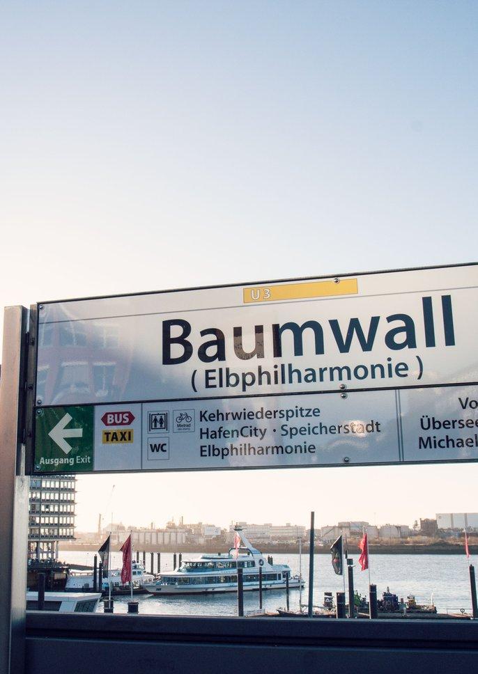 Baumwall / Elbphilharmonie / Haltestelle U3