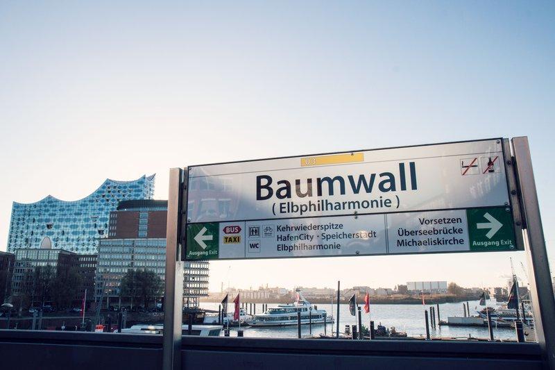 Baumwall / Elbphilharmonie / U3 Stop