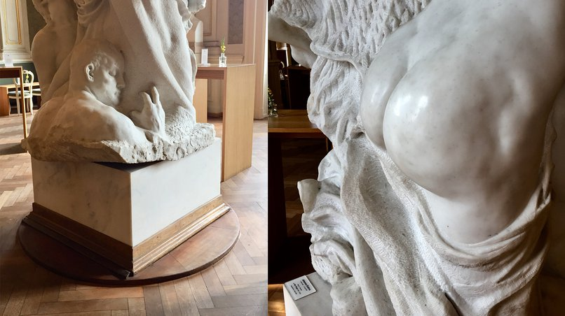Rotating Pedestal and the Muse's In-Your-Face Behind