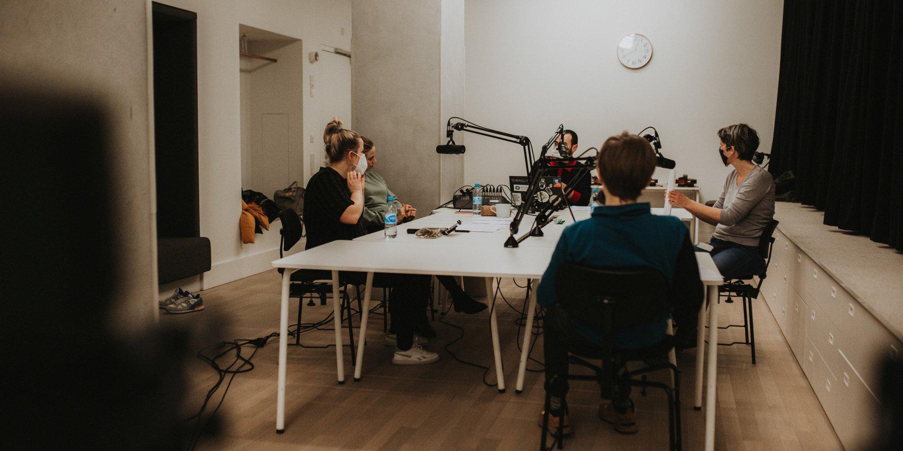 Podast-Setting im Kaistudio der Elbphilharmonie