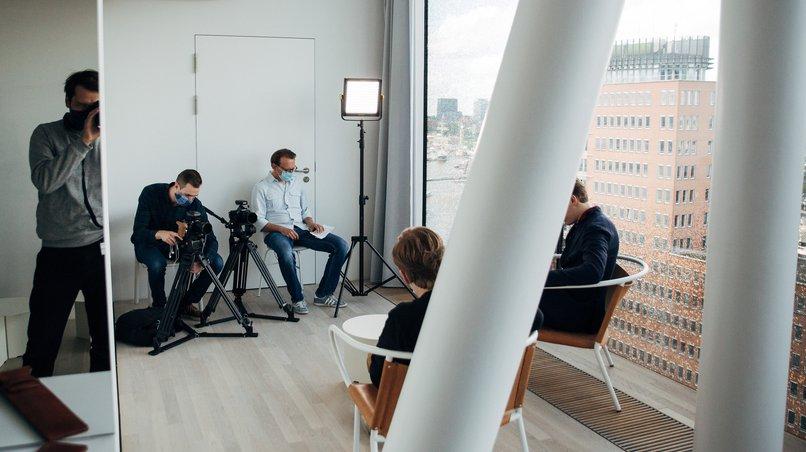 Interview mit Mundschutz: Pekka Kuusisto und Klaus Mäkelä