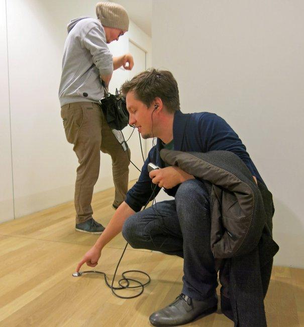 Martin Gerigk und Till Nowak bei der Arbeit