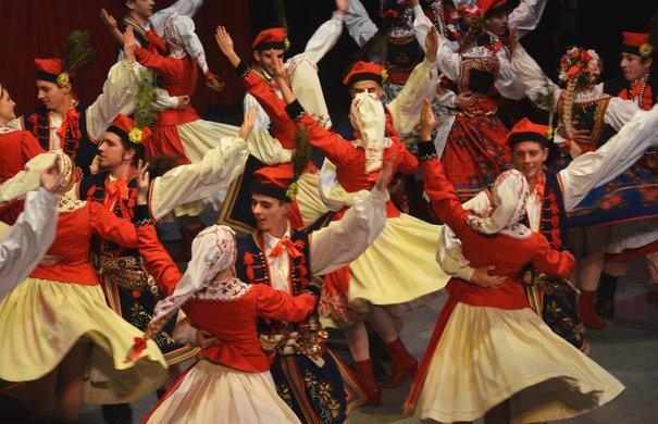 Feierlichkeiten zum Unabhängigkeitstag in Sanok. Volkstanz Krakowiak