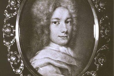 Georg Friedrich Händel: Miniatur von Christoph Platzer (ca. 1710)