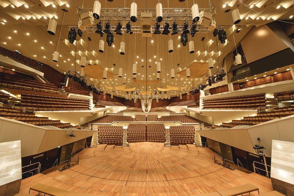 Der Große Saal der Berliner Philharmonie