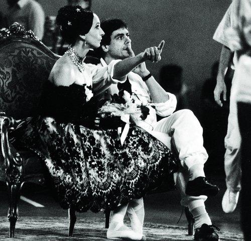 John Neumeier und Marcia Haydée bei den Dreharbeiten zu »Die Kameliendame«, 1986