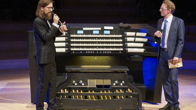 Thomas Cornelius und Clemens Matuschek beim Tag der Orgel