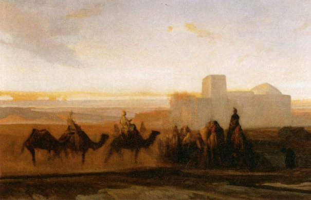 Alexandre-Gabriel Decamps: The Caravan (ca. 1854)