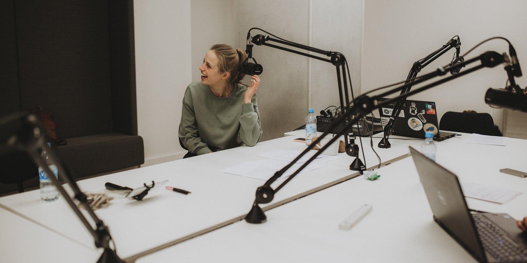 Vanessa Porter / Recording the »Köpfhörer« podcast