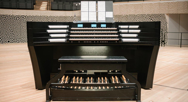 Der mobile Spieltisch der Elbphilharmonie-Orgel