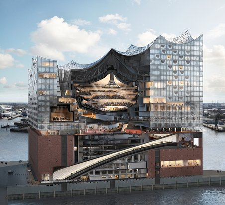 Elbphilharmonie Cross-Section