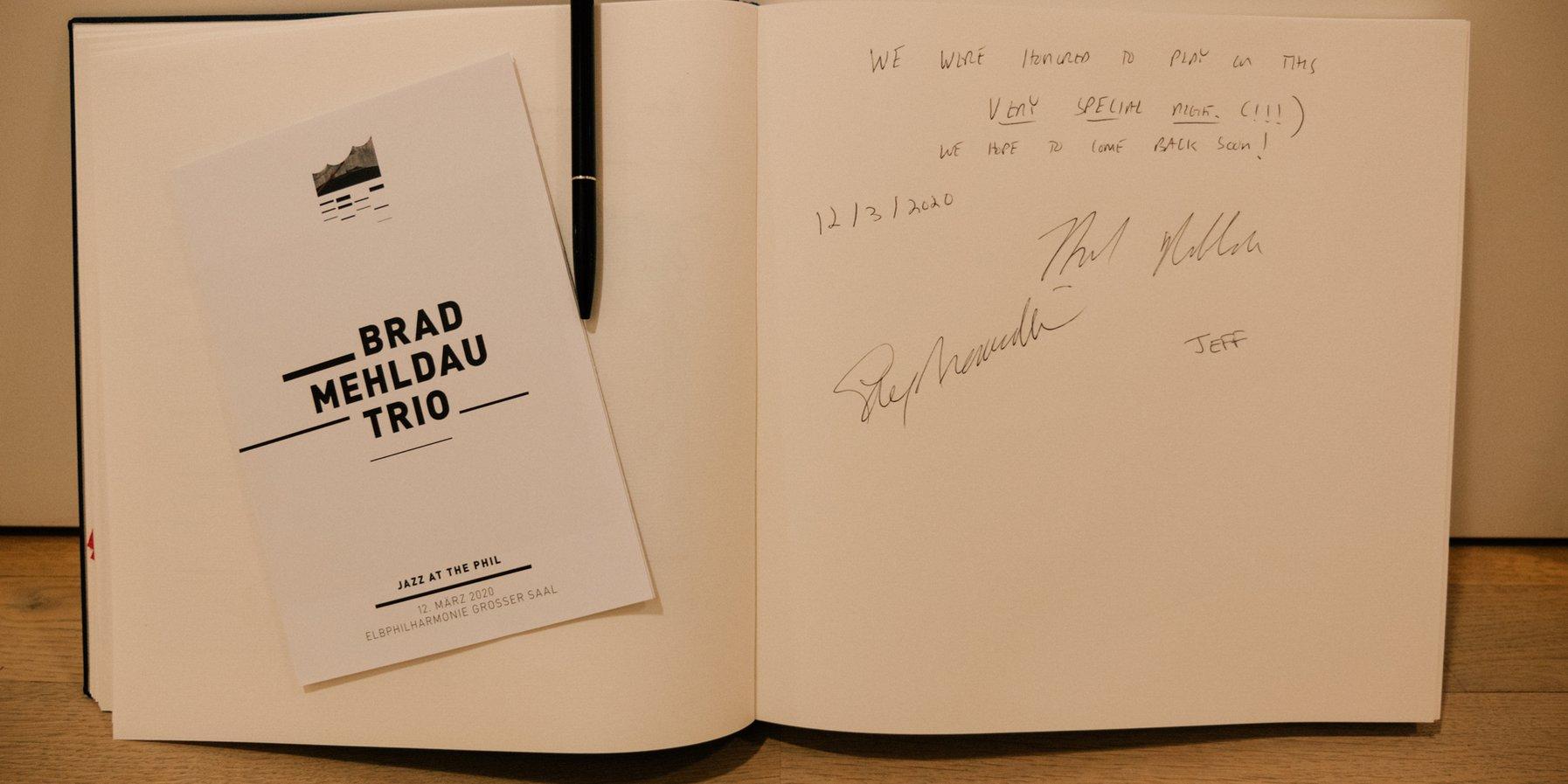 Brad Mehldau Gästebuch