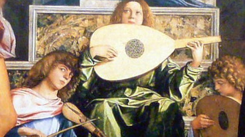 Lauten / Rebec, (Bellini: Pala di San Giobbe, 1487)
