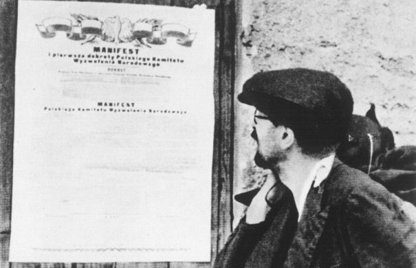 Manifest of the »Polish Committee for National Liberation«, which was supported by the Soviet Union.