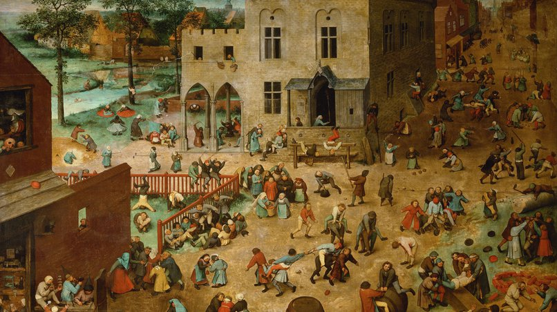 Inspiration for Ligeti: A Painting by Pieter Bruegel (here: Children's Games, 1560)