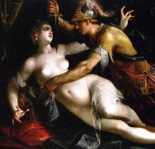 »The Rape of Lucretia« Gemälde von Hans von Aachen, 1600