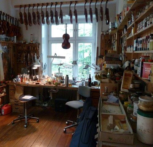 Werkstatt des Geigenbauers Matthias Tödtmann