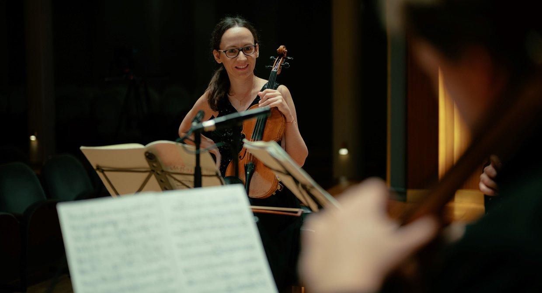 Agata Szymczewska, Geigerin im Szymanowski Quartet