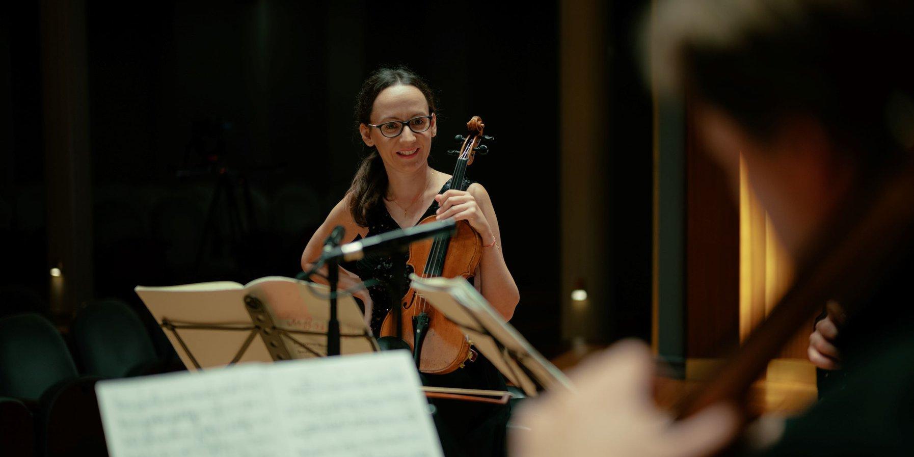 Agata Szymczewska, violinist in the Szymanowski Quartet