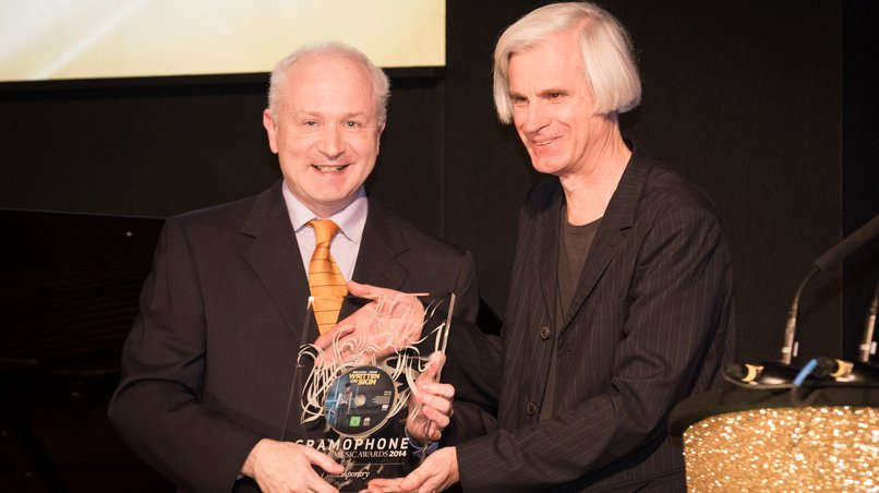 George Benjamin (left) and Martin Crimp at the Prize-Giving of the Gramophone Contemporary Award 2014