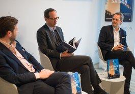Dr. Jonas Haentjes, Vorstand der Edel AG, Christoph Lieben-Seutter, Intendant Elbphilharmonie & Laeiszhalle, Stefan Weikert, Verleger Edel Books