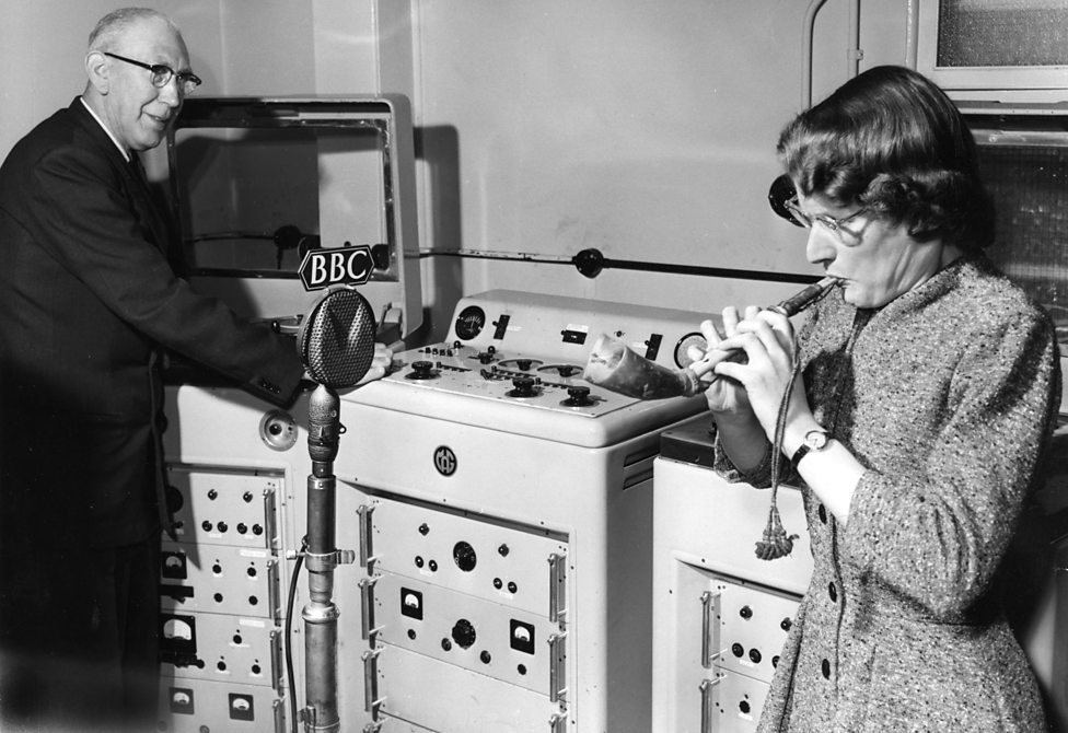 Richard Bird and Daphne Oram, 1958
