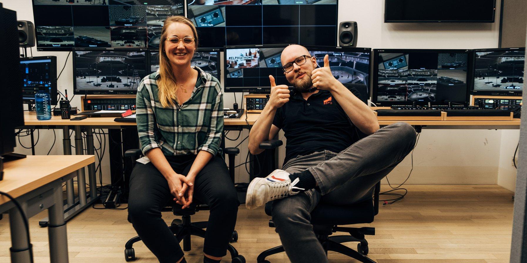Technik-Mitarbeiter bei Helena Hauff