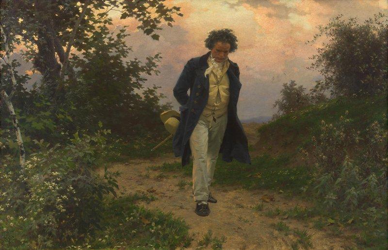 Beethoven in der Natur (Gemälde von Julius Schmid, um 1925)