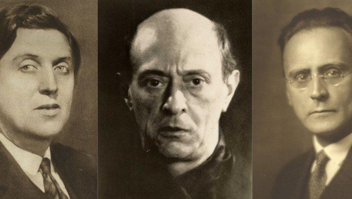 Alban Berg, Arnold Schönberg und Anton Webern