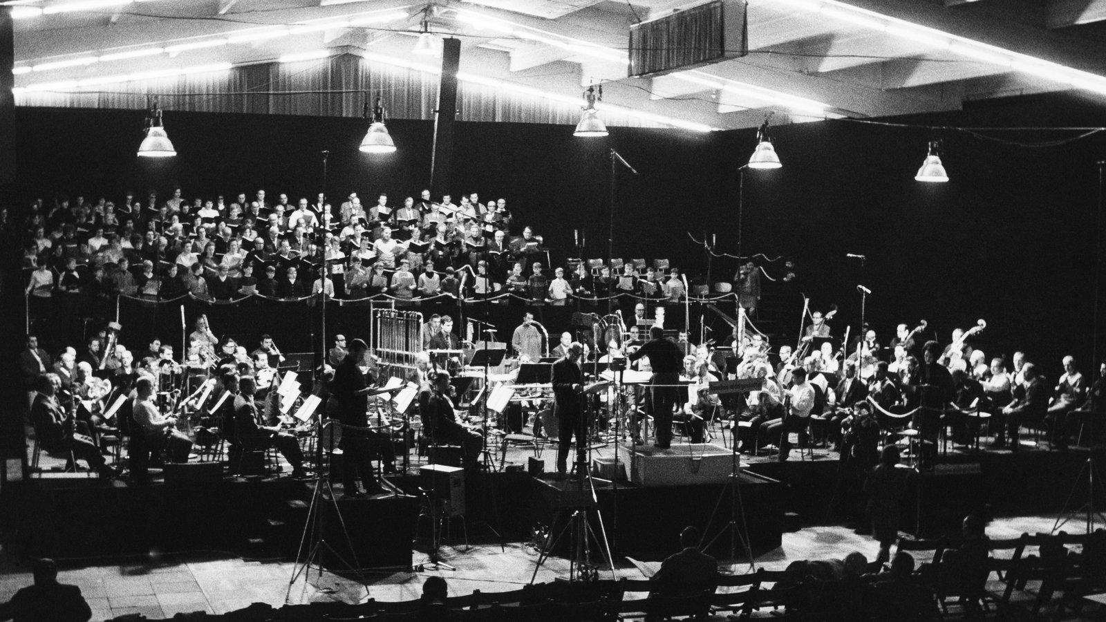 Die Proben zur Uraufführung in der Ernst-Merck-Halle