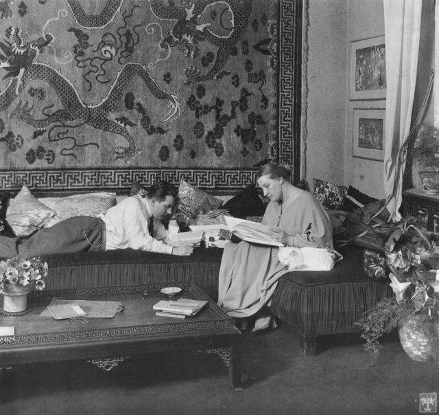 Fritz Lang mit Frau Thea
