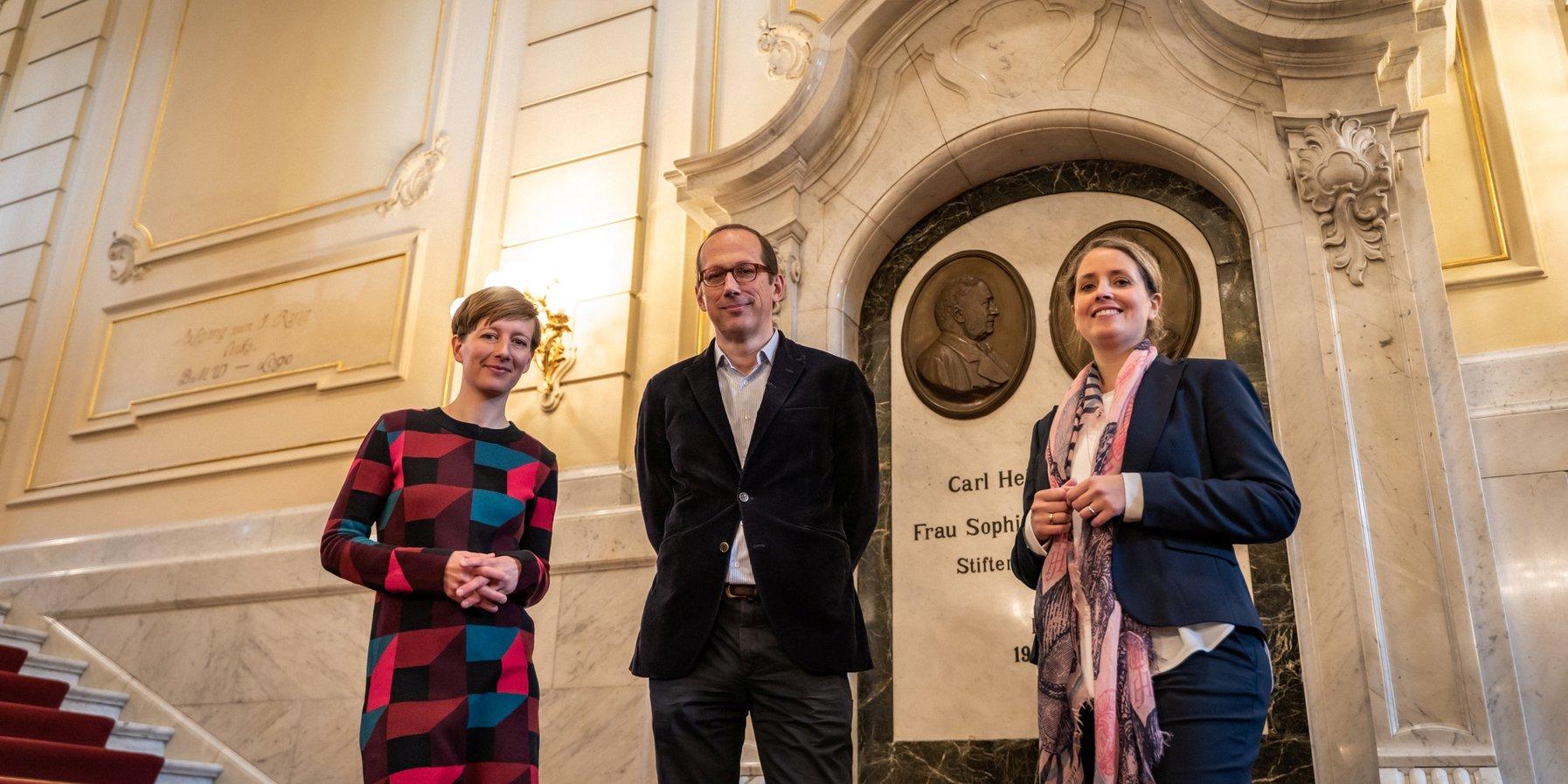 Kristina Sassenscheidt, Christoph Lieben-Seutter und Sarah Scarr