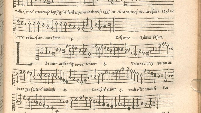 A notation leaving many questions unanswered. Excerpt from a Renaissance composition