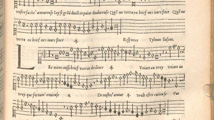 Die Notation lässt viele Fragen offen. Auszug aus einer Renaissance-Komposition