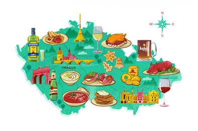 Czech foodie map