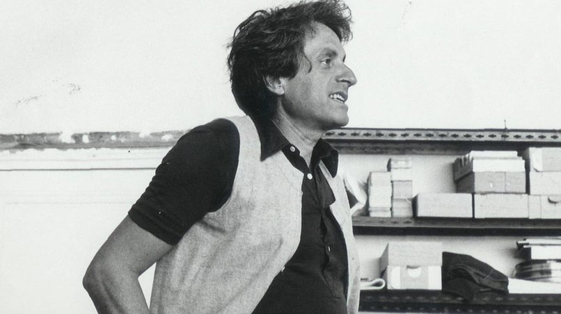Iannis Xenakis in His Studio, Paris ca. 1970