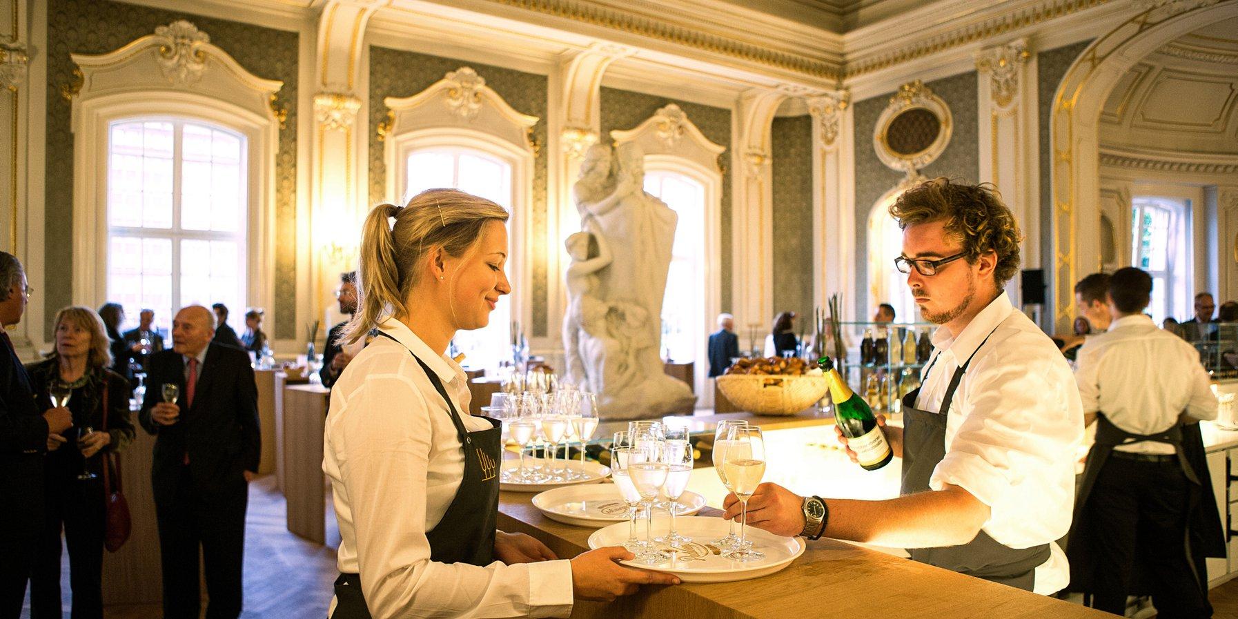 Gastronomie im Brahms-Foyer der Laeiszhalle