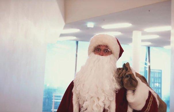 Weihnachtsmann in der Elbphilharmonie