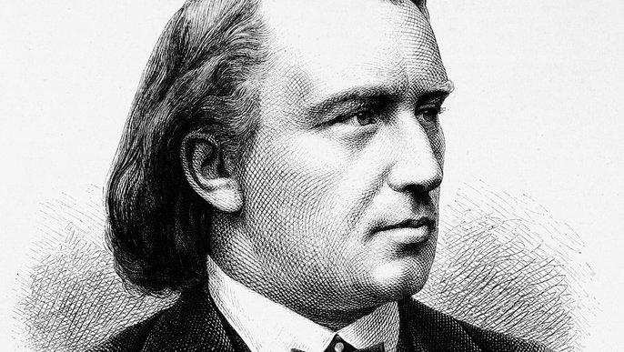 Johannes Brahms, 1880. Adolf Neumann: Die Gartenlaube