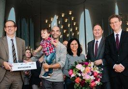 Christoph Lieben-Seutter, Luis Miguel, Jorge und Gewinnerin Rosy Ferreira, Dr. Carsten Brosda, Jochen Margedant