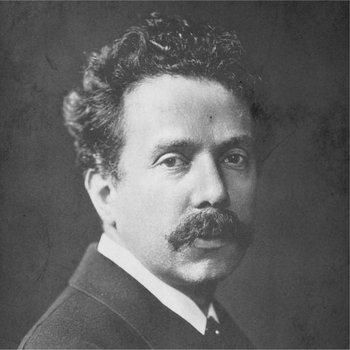 Der Komponist Robert Kahn, Portraitfoto schwarz-weiß.
