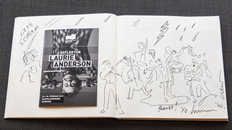 Gästebucheintrag Laurie Anderson